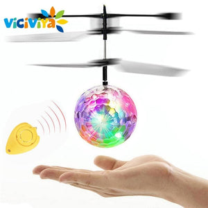 VICIVIYA RC Toy EpochAir RC Flying Ball RC Drone Helicopter Ball Built-in With Shinning LED Lighting