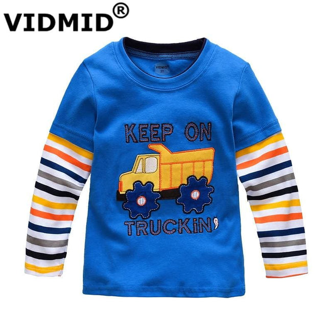 VIDMID Boys T-shirt Kids Tees Baby Boy brand tshirts Children blouses Long Sleeve 100% Cotton cars - MBMCITY