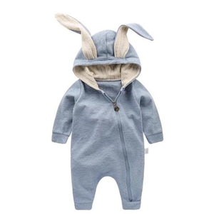 VIMIKID Newborn Baby Girls Boys Clothing Romper Cotton Long Sleeve Jumpsuit Playsuit Bunny Outfits Blue / 18M