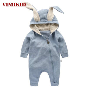 VIMIKID Newborn Baby Girls Boys Clothing Romper Cotton Long Sleeve Jumpsuit Playsuit Bunny Outfits - MBMCITY