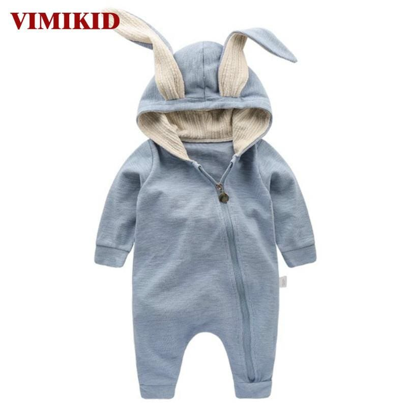 VIMIKID Newborn Baby Girls Boys Clothing Romper Cotton Long Sleeve Jumpsuit Playsuit Bunny Outfits