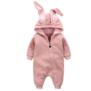 VIMIKID Newborn Baby Girls Boys Clothing Romper Cotton Long Sleeve Jumpsuit Playsuit Bunny Outfits Pink / 18M