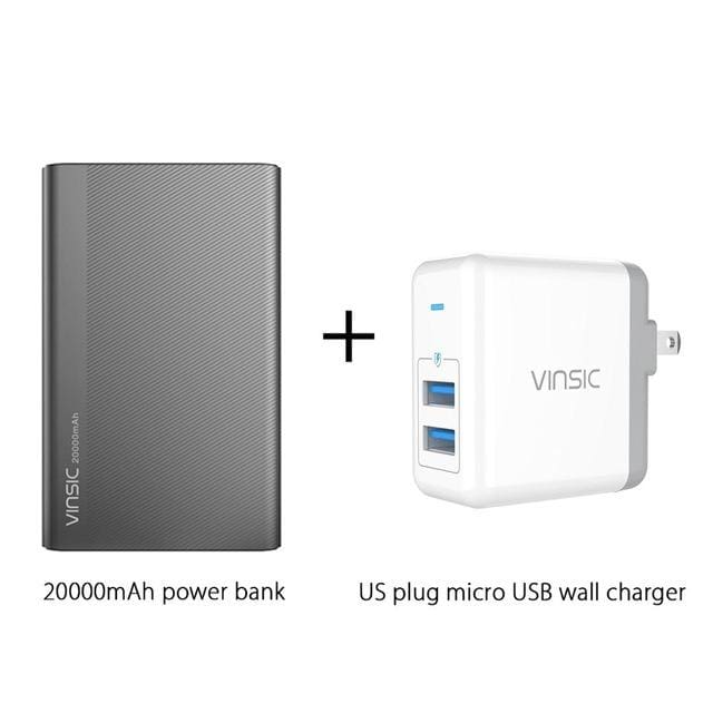 Vinsic 5V/3A 20000mAh Type-C Fast Charge Power Bank Dual Smart USB & Type-C Outputs External Battery - MBMCITY