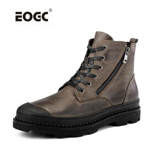 Vintage Style Men Boots Natural Leather Autumn And Winter Shoes Water Proof Work&Safety Shoes Men - MBMCITY