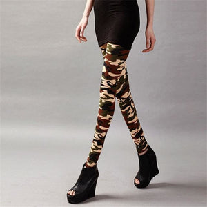 Visnxgi High Quality Women Leggings High Elastic Skinny Camouflage Legging Spring Summer Slimming K208 Camouflage 8 / One Size