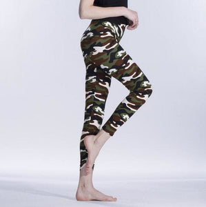 VISNXGI High Quality Women Leggings High Elastic Skinny Camouflage Legging Spring Summer Slimming K208 Camouflage 1 / One Size