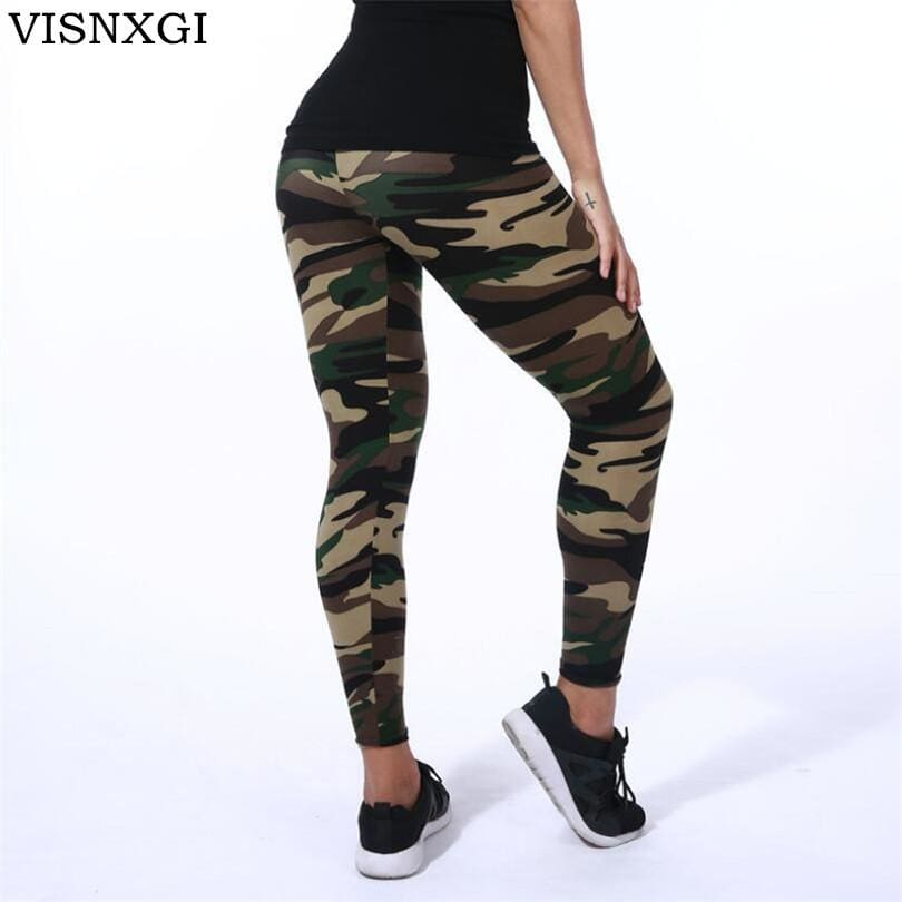Visnxgi High Quality Women Leggings High Elastic Skinny Camouflage Legging Spring Summer Slimming