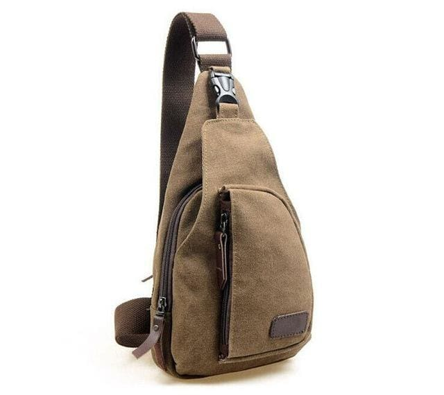 Vogue Star 2017 New Fashion Man Shoulder Bag Men Canvas Messenger Bags Casual Travel Military Brown