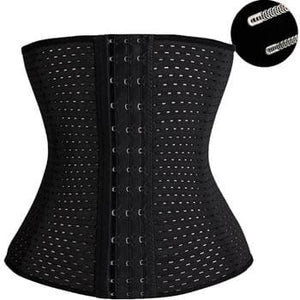 Waist Trainer Hot Shapers Waist Trainer Corset Slimming Belt Shaper Body Shaper Slimming Modeling Black / S