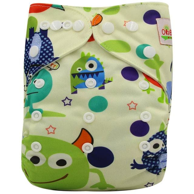 Washable Diapers Couches Lavables  2016 Baby Diaper Cover Wrap Cartoon Print Baby Nappy Changing - MBMCITY