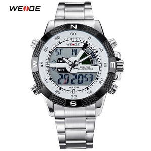 WEIDE Brand Men Sports Watches Men's Quartz Multifunction Military Watch Analog Digital Waterproof.