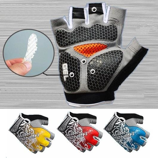 Weight Lifting Gloves Gel Palm Gym Fitness Workout Powerlifting Half Finger Anti Slip Cross Training