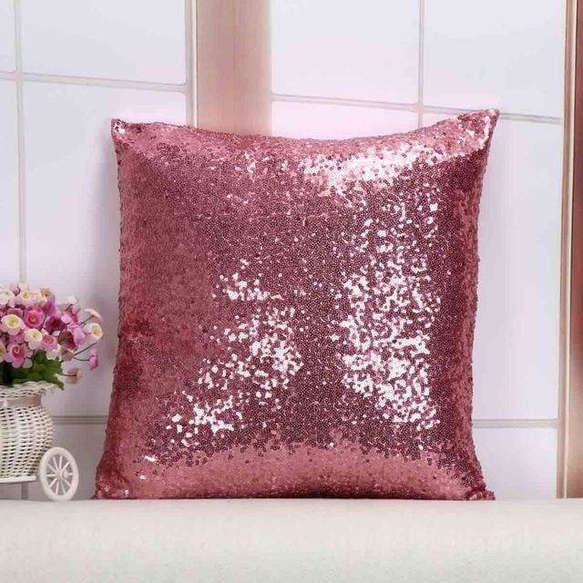 Wholesale Cushion Cover Glitter Sequin Throw Pillow Cases Cafe Cushion Covers Car Seat Capa Poszewki 400Mm*400Mm / Pink