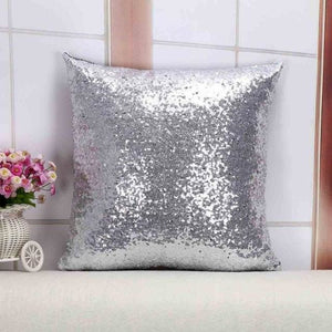 Wholesale Cushion Cover Glitter Sequin Throw Pillow Cases Cafe Cushion Covers Car Seat Capa Poszewki 400Mm*400Mm / Silver