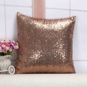 Wholesale Cushion Cover Glitter Sequin Throw Pillow Cases Cafe Cushion Covers Car Seat Capa Poszewki 400Mm*400Mm / Coffee
