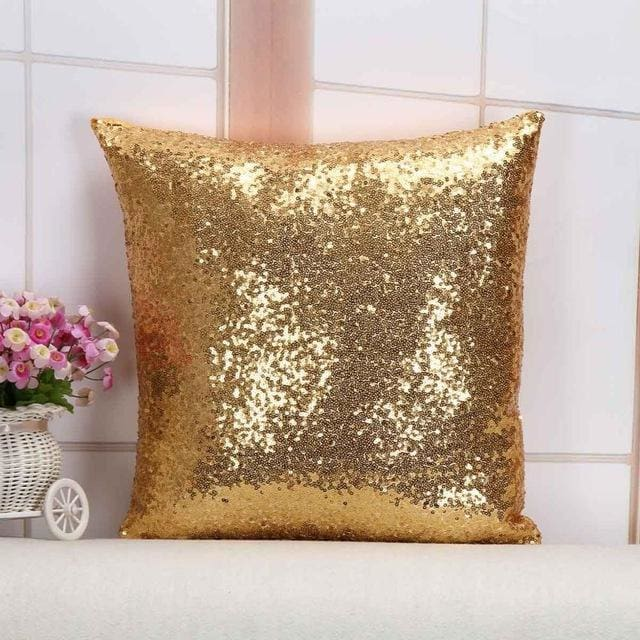 Wholesale Cushion Cover Glitter Sequin Throw Pillow Cases Cafe Cushion Covers Car Seat Capa Poszewki 400Mm*400Mm / Gold