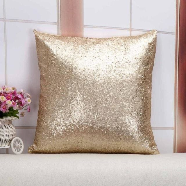 Wholesale Cushion Cover Glitter Sequin Throw Pillow Cases Cafe Cushion Covers Car Seat Capa Poszewki 400Mm*400Mm / Champagne