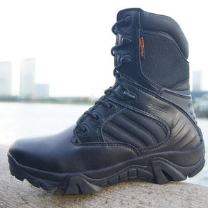 Winter Autumn Men Military Boots Quality Special Force Tactical Desert Combat Ankle Boats Army Work Black High Top / 6