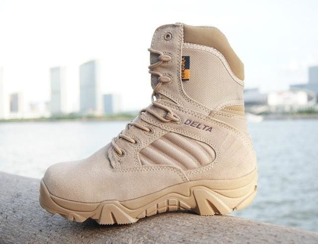 Winter Autumn Men Military Boots Quality Special Force Tactical Desert Combat Ankle Boats Army Work Sandy High Top / 6