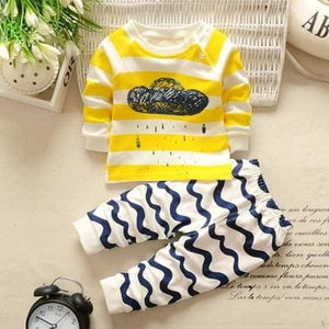 Winter Baby Clothing Sets For Girls Boys Cotton Long Sleeve+Pant Kid Children Baby Girl Boy Clothes - MBMCITY