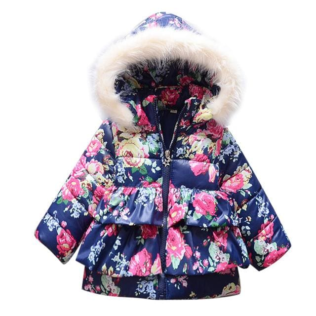 086c258ff Winter Baby Girls Coats Jackets Children Outerwear Cotton Hooded Winter  Coats For Girls Clothes Down