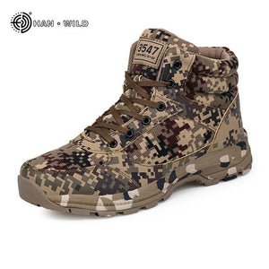 Winter Tactical Men Snow Boots Camouflage Warm Cotton Army Shoes Trainer Footwear Mens Military - MBMCITY