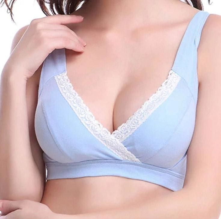 Womans No Rims 100% All Cotton Bra Simple And Comfortable Solid Color Wire Free Bras Lingerie