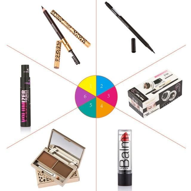 Women Fashion Makeup Set Gift Gel Eyeliner Eye Liner Pen Eyebrow Pencil Sexy Lipstick Eyebrow Powder