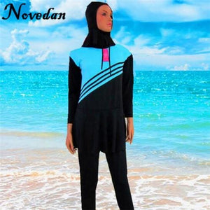 Women Muslim Swimwear Islamic Swimsuit Plus Size Modest Long Sleeve Muslim Swim Suits Bathing Wear - MBMCITY