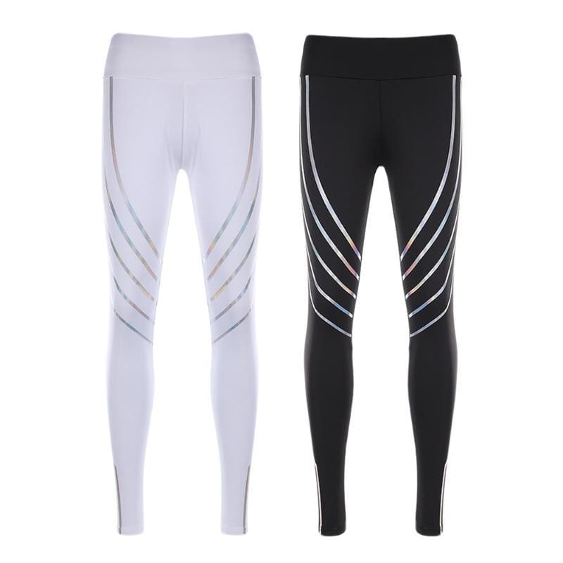 Women Running Pants 2018 New Gym Fitness Yoga Leggings Pant Reflective Nightlight Tights For Women