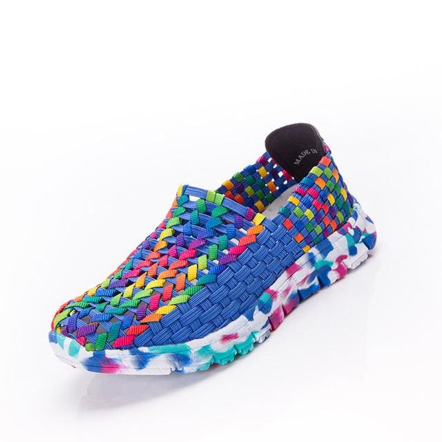 Women Shoes Summer Flat Female Loafers Women Casual Flats Woven Shoes Slip On Colorful Shoe Mujer