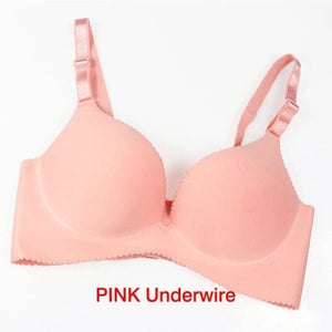 Women Super Push Up Seamless underwire Bra Gather Adjustable Girls soid Lingerie Bra 6 Color Cup - MBMCITY