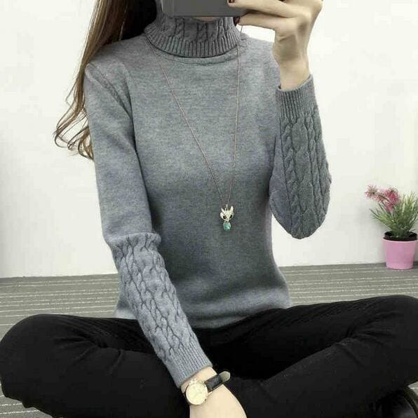 Women Turtleneck Winter Sweater Women 2017 Long Sleeve Knitted Women Sweaters And Pullovers Female - MBMCITY