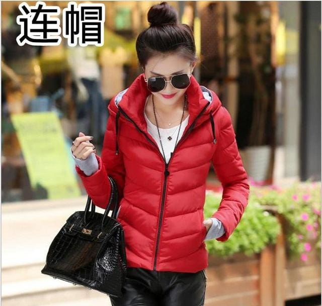 Women Winter Jacket Parka Thicken Outerwear Female Coats Hooded Design Cotton-padded Plus Size - MBMCITY