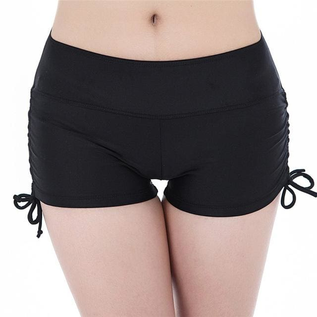 Women Yoga Shorts Quick Dry Breathable Sports Running Fitness Drawstring Beach Shorts Swimming yoga