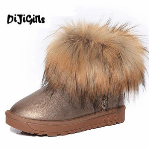 Womens Shoes Thick Fur Fashion Snow Boots 2018 New Winter Cotton Warm Shoes For Women Ankle Boots