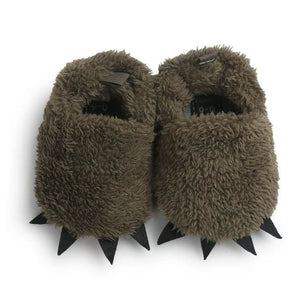 WONBO Cute Modeling Monster Paw Baby Worm Slippers 2017 Winter Baby Shoes First Walkers Photo Props - MBMCITY
