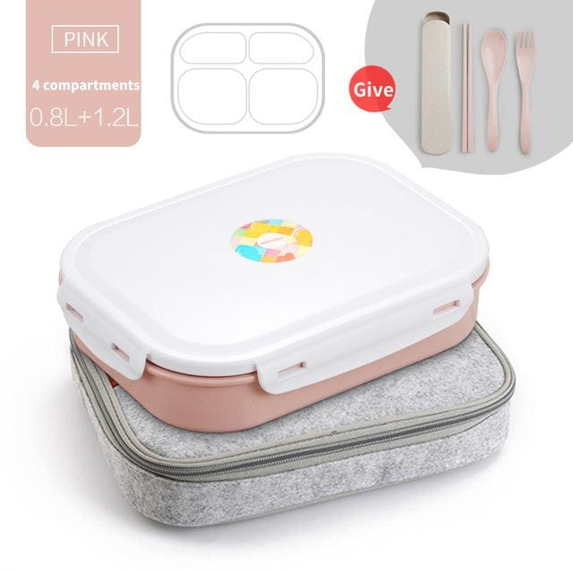 WORTHBUY 304 Stainless Steel Japanese Lunch Boxs With Compartments Microwave Bento Box For Kids