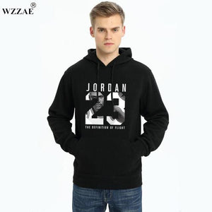 Wzzae 2017 Brand New Fashion Jordan 23 Men Sportswear Print Men Hoodies Pullover Hip Hop Mens Red / M