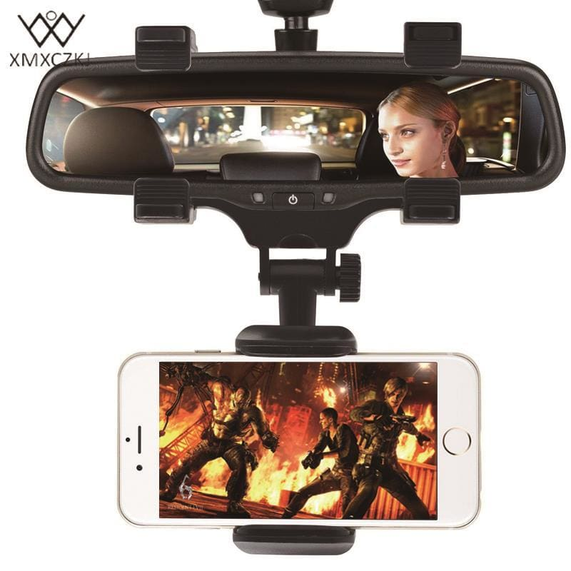 Xmxczkj Car Phone Holder Car Rearview Mirror Mount Phone Holder 360 Degrees For Iphone Samsung Gps