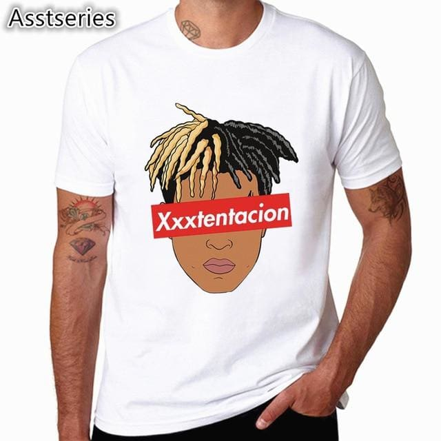 Xxxtentacion Character Print T-Shirt Fashion Casual Fitness Cool O-Neck Mens T Shirt Summer Short Hcp883G / S