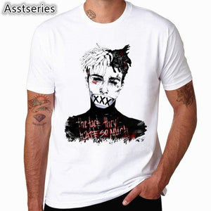 Xxxtentacion Character Print T-Shirt Fashion Casual Fitness Cool O-Neck Mens T Shirt Summer Short Hcp4432A / S