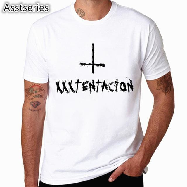 Xxxtentacion Character Print T-Shirt Fashion Casual Fitness Cool O-Neck Mens T Shirt Summer Short Hcp883C / S
