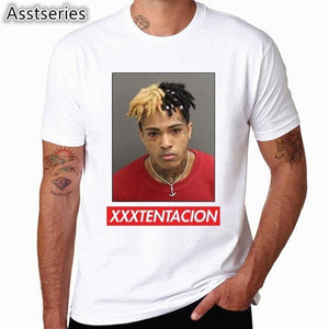 Xxxtentacion Character Print T-Shirt Fashion Casual Fitness Cool O-Neck Mens T Shirt Summer Short Hcp883F / S