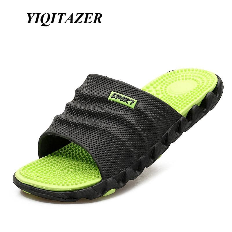 YIQITAZER 2017 New Summer Cool Water Flip Flops Men High quality Soft Massage Beach Slippers,Fashion - MBMCITY