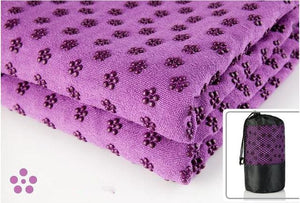 Yoga Blankets Anti Slip Soft Travel Sport Fitness Exercise Yoga Pilates Mat Cover Towel Blanket Purple