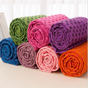 Yoga Blankets Pvc yoga supplies gym yoga towels non-slip thicker widened 63 * 183cm