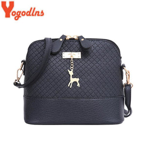 Yogodlns New female bag quality pu leather soft face women bag wild shoulder messenger bag Quilted