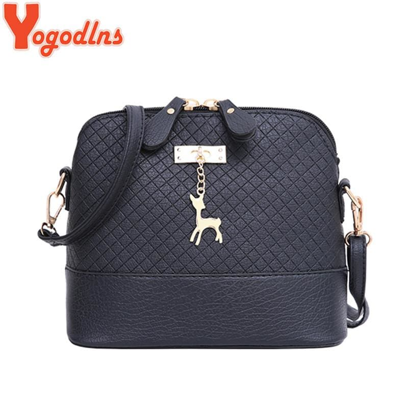 Yogodlns New female bag quality pu leather soft face women bag wild shoulder messenger bag Quilted - MBMCITY