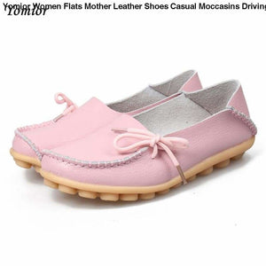 Yomior Women Flats Mother Leather Shoes Casual Moccasins Driving Loafers Women's Shoes Fashion